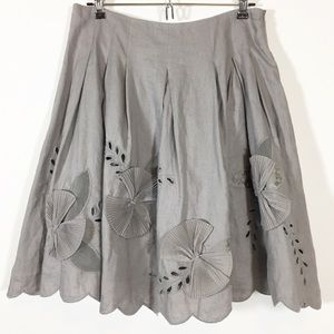 Anthropologie Elevenses Fertile Loam Origami Skirt